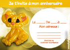 invitation anniversaire chat
