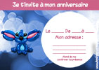invitation anniversaire stitch